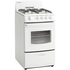 2.4 Cu. Ft. Gas Convection Range in White