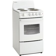 2.4 Cu. Ft. Electric Convection Range in White
