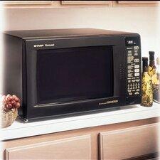 1.5 Cu. Ft. 900 Watt Countertop Convection Microwave in Black