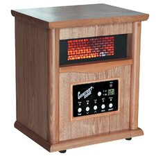 5,120 BTU Portable Electric Fan Cabinet Heater with Remote Control