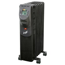 Portable Electric Radiant Radiator Heater with Casters