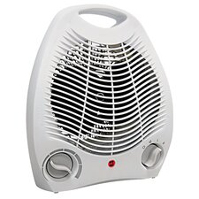 Portable Electric Fan Compact Heater with Adjustable Thermostat