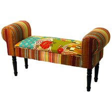 Patchwork Upholstered Bedroom Bench