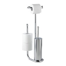Free Standing Toilet Roll and Brush Holder