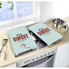 2-tlg. 2-tlg. Abdeckplatten-Set Home Sweet Home