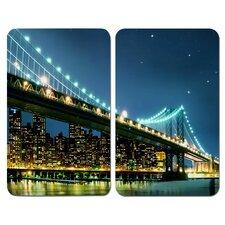 2-tlg. 52 cm Deckel Brooklyn Bridge