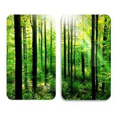Herdabdeckplatte Wald
