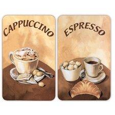 2-tlg. 2-tlg. Abdeckplatten-Set Coffee
