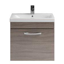 Einzelwaschbeckenunterschrank-Set Drake mit Waschbecken mit Treibholz-Ausführung