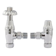 2 Piece Thermostatic Radiator Valve Set