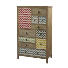 Squiggly Dee High 10 Drawer Chest