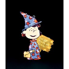 Peanuts Lucy in Witch Costume Lighted Halloween Window Decoration