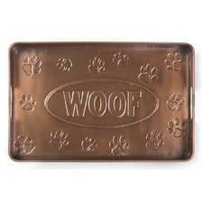 Woof Multi-Purpose Shoe Tray for Boots, Shoes, Plants, Pet Bowls, and More