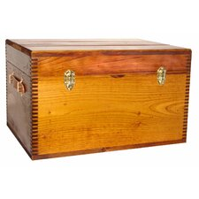 Deluxe Flat Top Trunk with Leather Handles Liftout Tray