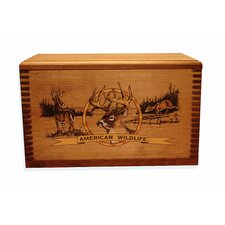 """Wooden Accessory Box With """"Wildlife Series"""" Deer Print"""
