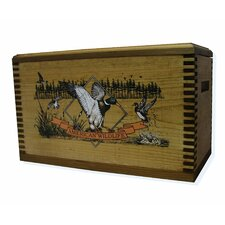 """Wooden Accessory Box With """"Wildlife Series"""" Duck Print"""