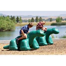 Dinosaur in Ground Playground Sculpture