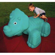 Triceratops in Ground Playground Sculpture