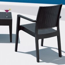 Wickerlock Resin Dining Arm Chair (Set of 2)