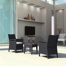 California Wickerlook 3 Piece Deep Seating Group