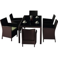 California Wickerlook 7 Piece Dining Set