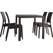 Orlando Wickerlook 5 Piece Dining Set