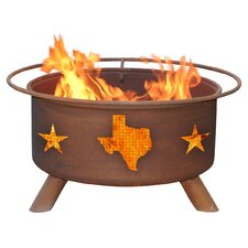Texas State and Stars Fire Pit