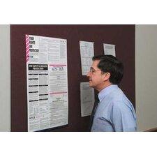 Burlap Wall Mounted Bulletin Board