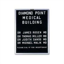 Open Face Wall Mounted Letter Board
