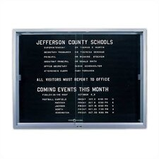 'S' Series Sliding Glass Wall Mounted Enclosed Letter Board