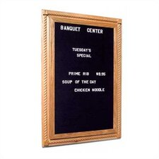 Executive Magnetic Reversible Bulletin Board/Whiteboard