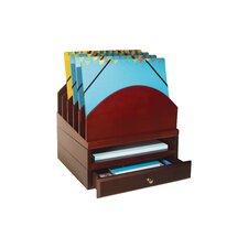 Stacking Wood Desk Organizers Step Up File/Tray/Drawer Kit