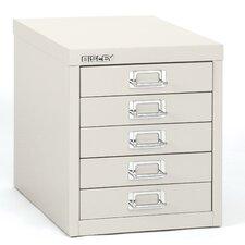 5-Drawer Steel Desktop Multidrawer Storage Cabinet