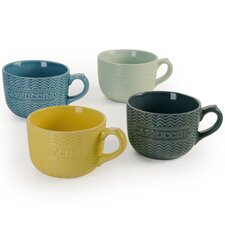 Embossed Word 20 oz. Cappuccino Mug (Set of 4)