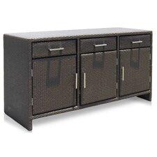 Opal Aluminium Wicker Storage Box I