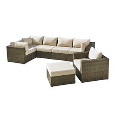 San Clemente 7 Piece Deep Seating Group with Cushions