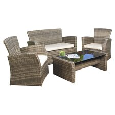 Redondo 4 Piece Lounge Seating Group with Cushion