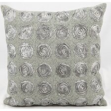 Chiffon Roses Cotton Throw Pillow