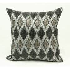 Diamond Sequins Ikat Throw Pillow