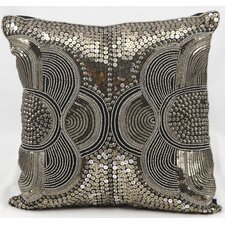 Beaded Abstract Throw Pillow