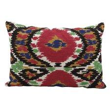 Ikat Suede Lumbar Pillow