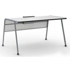 """A&D Laminate 30"""" Teacher Desk with Tablet/Book Kickstand"""