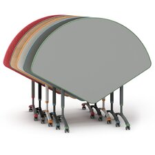 A&D Laminate Adjustable Height Standard Desk