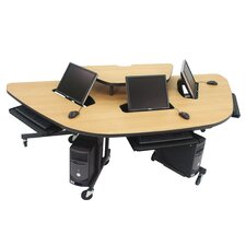 "Mobile Multi-User Work Station 94"" W x 45"" D Training Table"