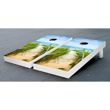 Beach Shore Dock Cornhole Game Set