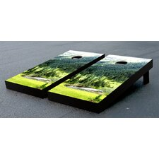 Mountain Valley Themed Cornhole Game Set