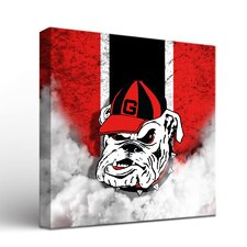 NCAA Georgia Bulldogs Vintage Framed Graphic Art on Wrapped Canvas