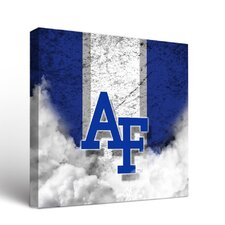 NCAA Vintage Design Framed Graphic Art on Wrapped Canvas