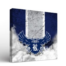 NCAA Rice Owls Vintage Design Framed Graphic Art on Wrapped Canvas