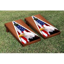 American Eagle USA Rosewood Stained Triangle No Mountain Version Cornhole Game Set